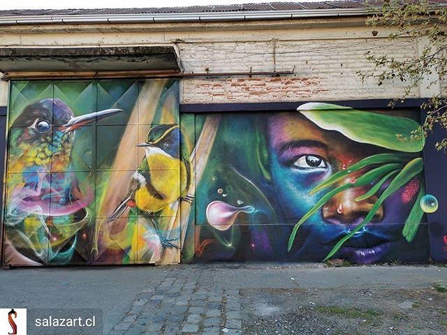 Repost de @salazart.cl -  Talca 11 oriente 8 norte Talca #magia #graffitichileno #graffiti_art #graffiti #art #artechileno #arte #murales #mural #paint #streetart - #regrann