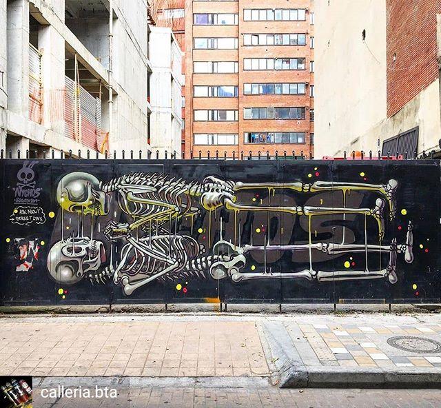 Repost de @calleria.bta -  NYCHOS en la capital 🇨🇴 #bogotart #graffiti #nychos